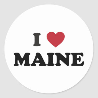I Love Maine Classic Round Sticker