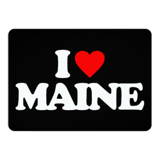 I LOVE MAINE PERSONALIZED ANNOUNCEMENT CARD