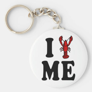 I Love Maine Lobster Key Ring