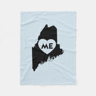 I Love Maine State Blanket