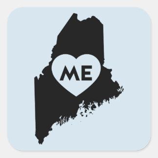 I Love Maine State Stickers