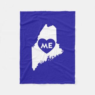 I Love Maine State (White) Blanket