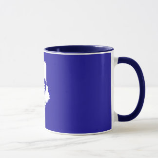 I Love Maine State (White) Mugs