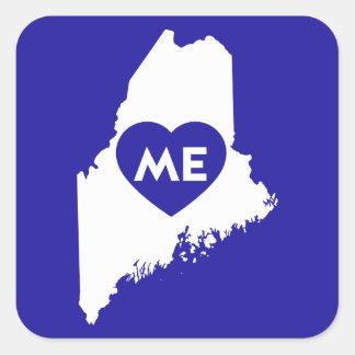 I Love Maine State (White) Stickers