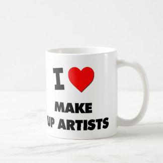 I Love Make Up Artists Basic White Mug