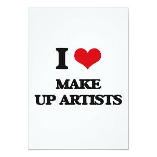 I love Make Up Artists Invitations