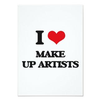 I love Make Up Artists 13 Cm X 18 Cm Invitation Card