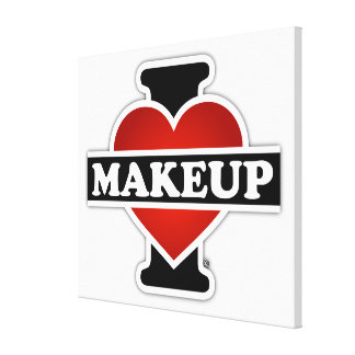 I Love Makeup Stretched Canvas Prints