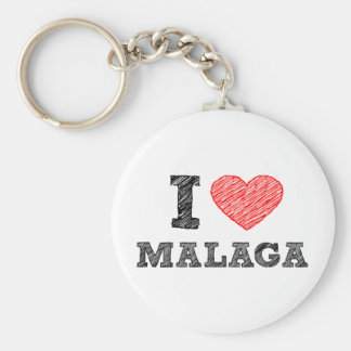 I Love Málaga Key Ring