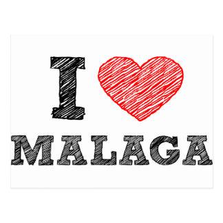 I Love Málaga Postcard