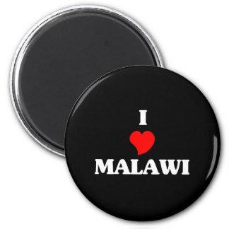 I Love Malawi 6 Cm Round Magnet