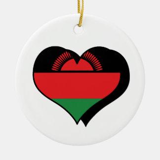 I Love Malawi Flag Ornament