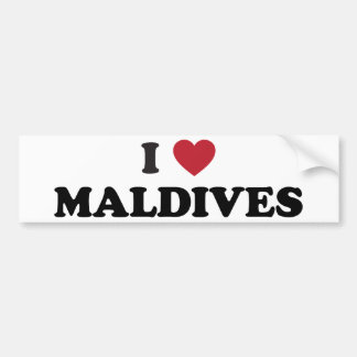 I Love Maldives Bumper Sticker