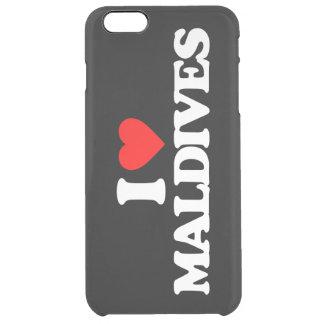 I LOVE MALDIVES CLEAR iPhone 6 PLUS CASE