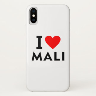 I love Mali country like heart travel tourism iPhone X Case