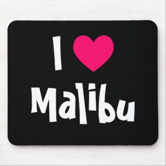 I Love Malibu Mouse Pad