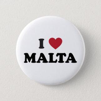 I Love Malta 6 Cm Round Badge