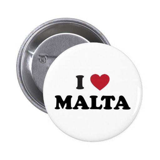 I Love Malta Pin