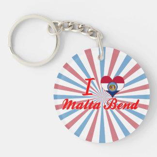 I Love Malta Bend, Missouri Key Chain