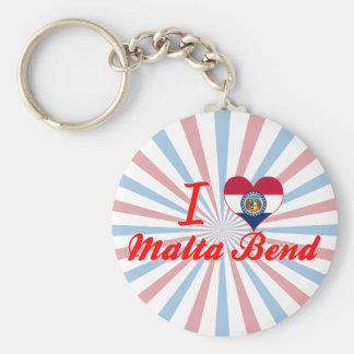 I Love Malta Bend, Missouri Key Chains