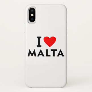 I love Malta country like heart travel tourism iPhone X Case