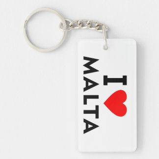 I love Malta country like heart travel tourism Key Ring