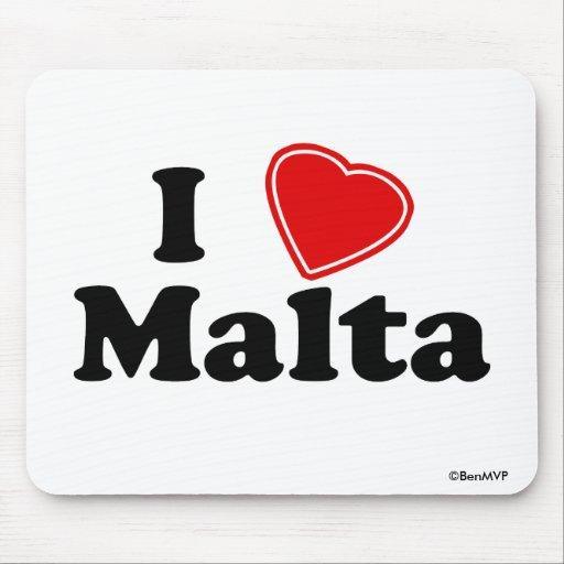I Love Malta Mousepads
