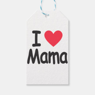 I love mamma, mom, mother gift tags