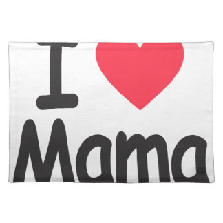 I love mamma, mom, mother placemat
