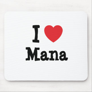 I love Mana heart T-Shirt Mouse Pads