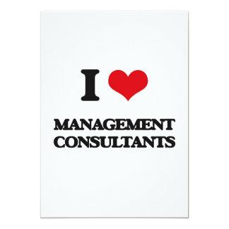 "I love Management Consultants 5"" X 7"" Invitation Card"