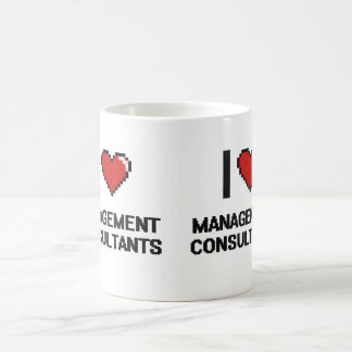 I love Management Consultants Basic White Mug