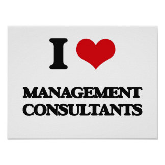 I love Management Consultants Print