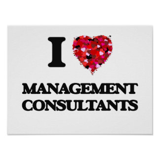 I love Management Consultants Poster