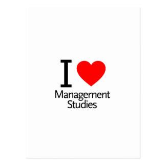 I Love Management Studies Postcard