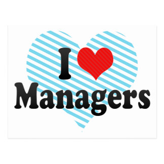 I Love Managers Postcard