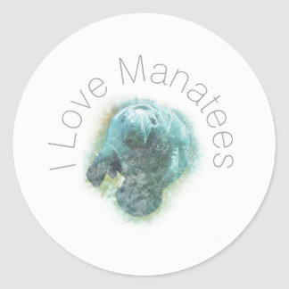 I Love Manatees | Sticker