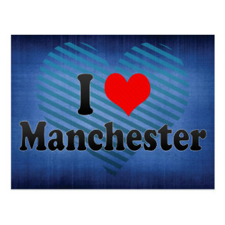 I Love Manchester, United Kingdom Postcard