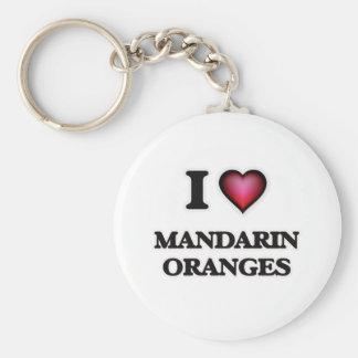 I Love Mandarin Oranges Key Ring