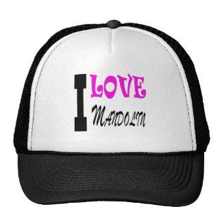 I Love Mandolin Cap