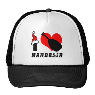 I Love Mandolin Design Cap