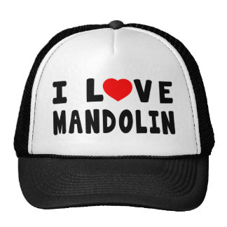 I Love Mandolin Hat