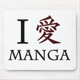 I Love Manga Mouse Pads