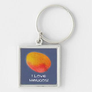 I Love Mangoes Key Ring