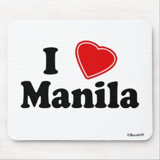 I Love Manila Mouse Pad