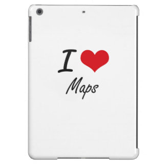 I Love Maps iPad Air Cases