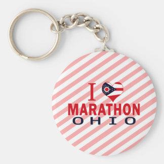 I love Marathon, Ohio Keychain