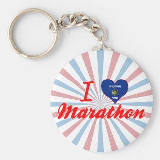 I Love Marathon, Wisconsin Key Chain