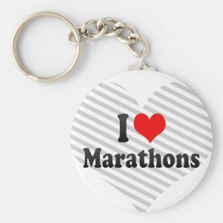 I love Marathons Key Chain