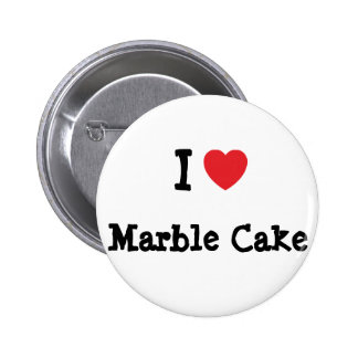 I love Marble Cake heart T-Shirt Pin